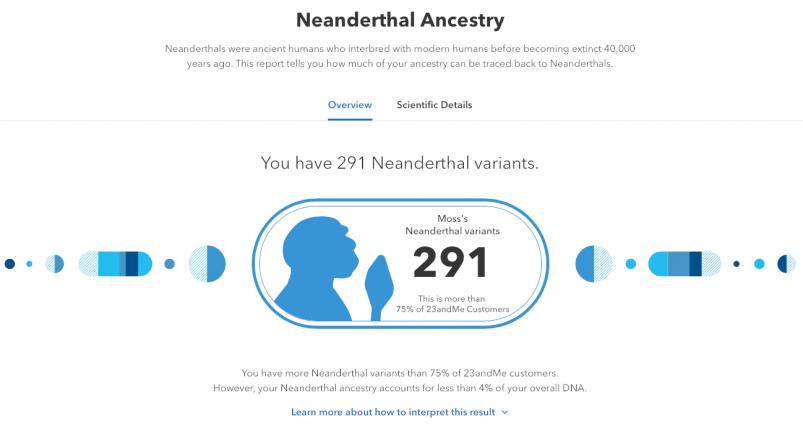 23andMe vs AncestryDNA - 23andMe neanderthal ancestry