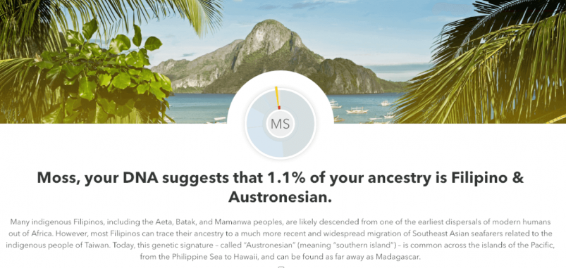 23andMe vs AncestryDNA - 23andMe ethnicity profile