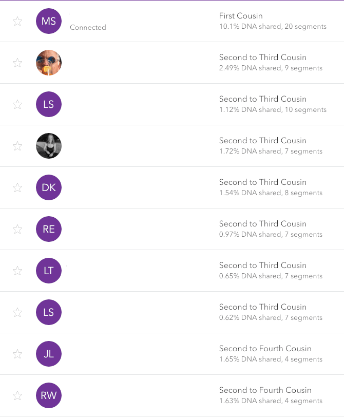 MyHeritage vs 23andMe vs Ancestry review -- 23andMe DNA relatives