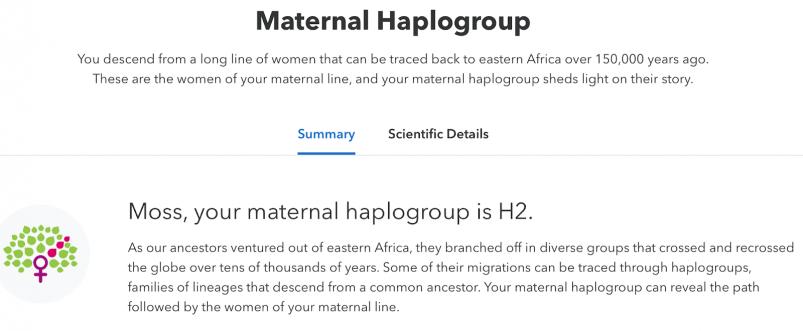 MyHeritage vs 23andMe vs Ancestry review --23andMe Maternal Haplogroup