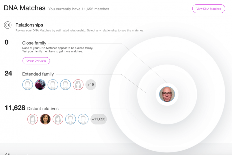 MyHeritage vs AncestryDNA - MyHeritage DNA Matches overview