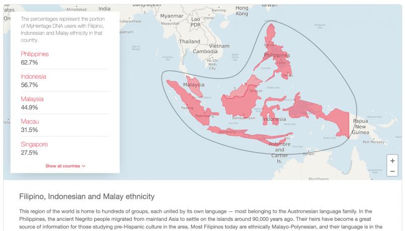 MyHeritage vs AncestryDNA - MyHeritage Ethnicities Around the World