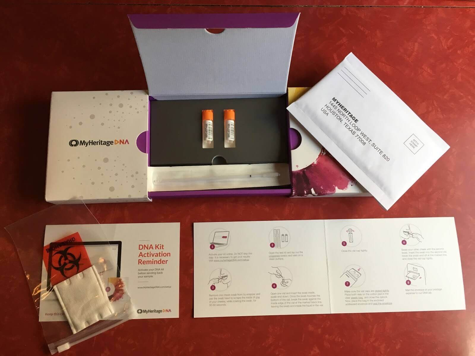 MyHeritage Review - Inside MyHeritage box