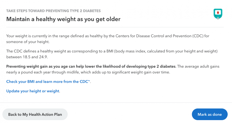 23andMe health report