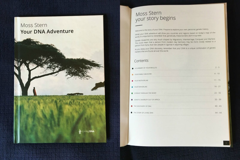 Living DNA Printed Ancestry Book