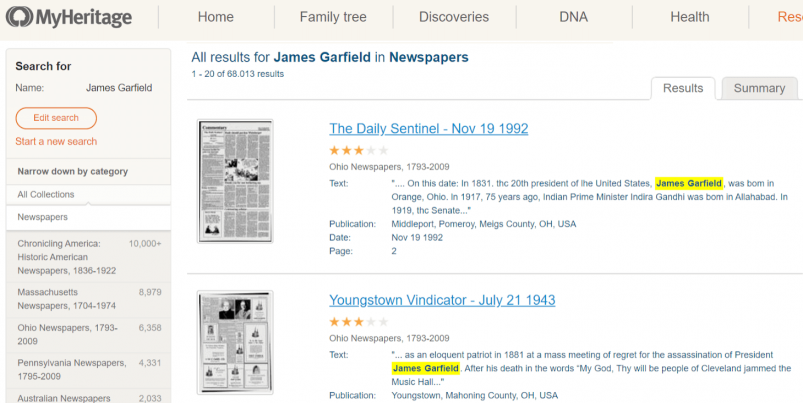 MyHeritage Family Tree Builder's SuperSearch Feature