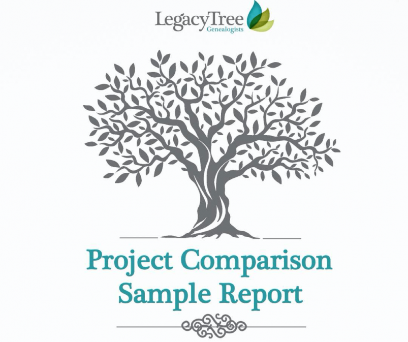 Legacy Tree sample report cover