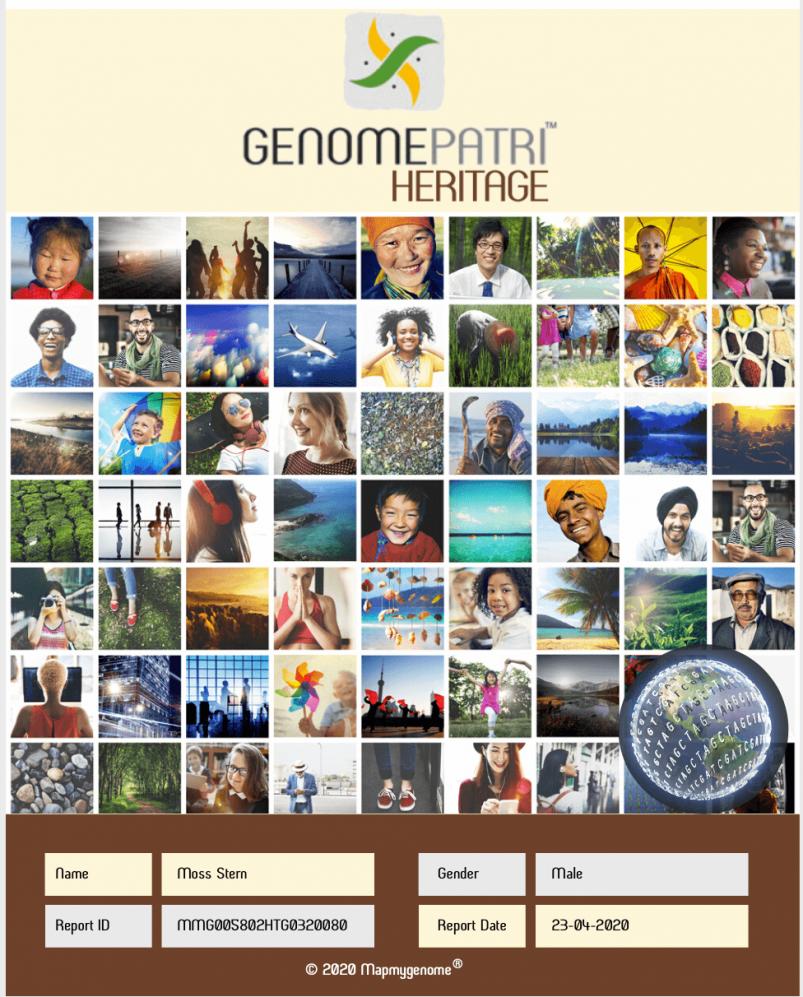 Mapmygenome's Genomepatri Heritage Report Cover