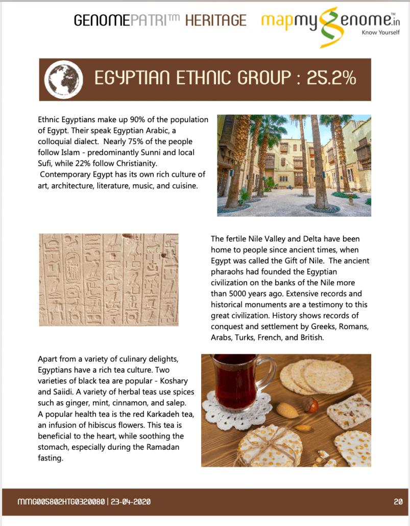 Mapmygenome's Genomepatri Heritage Report - My Egyptian Heritage Page