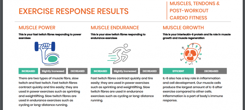 Rightangled's Exercise Response Results