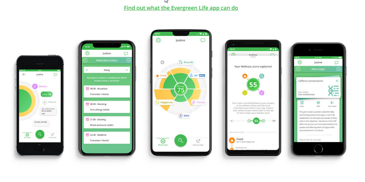 preview of Evergreen life app