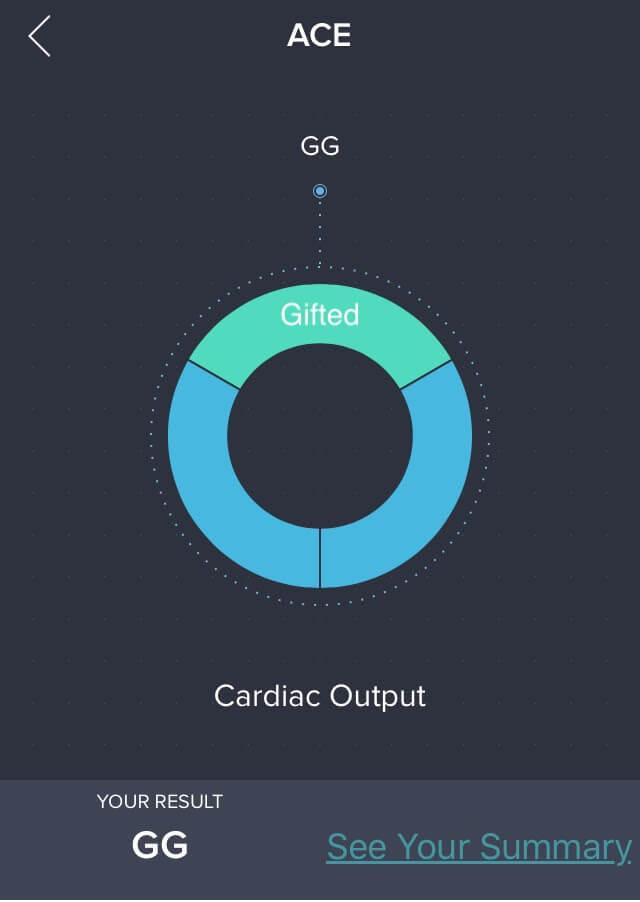 Orig3n app ACE gene report