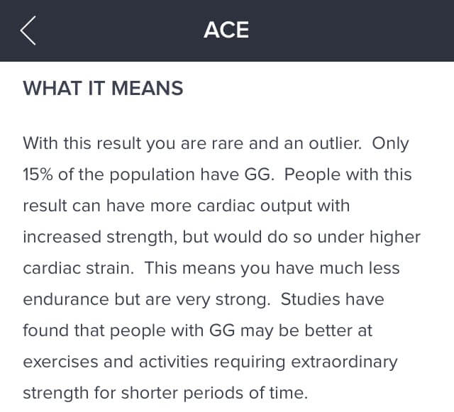 "Orig3n app ACE gene report - ""What It Means"""