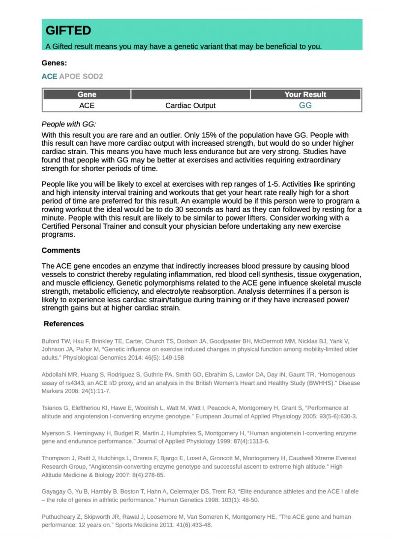 Orig3n PDF - ACE gene report
