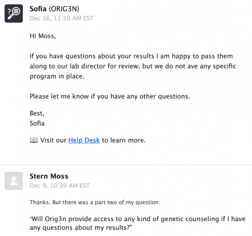 Orig3n customer service inquiry response #5