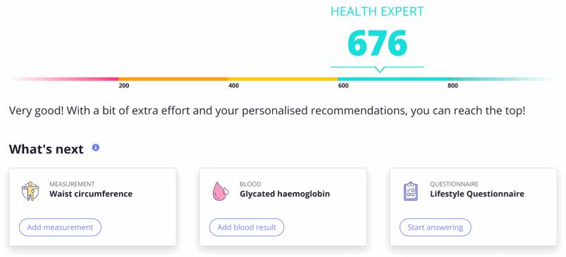 GenePlanet personalized health score