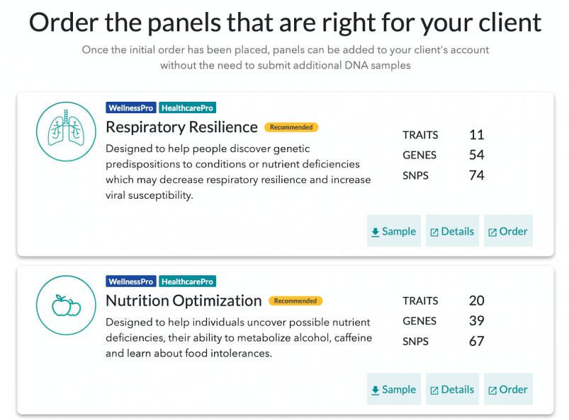 ToolBox Genomics health panels
