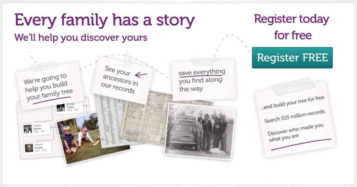 genes reunited free family tree builder registration