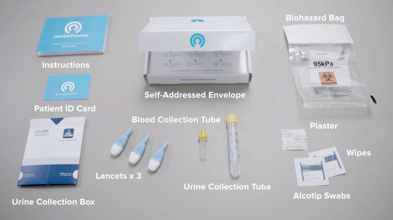 letsgetchecked sample collection kit