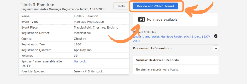 Find and attach records on FamilySearch to your ancestors.