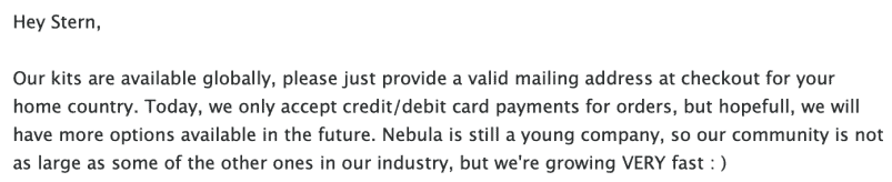 Nebula Genomics inquiry response #1