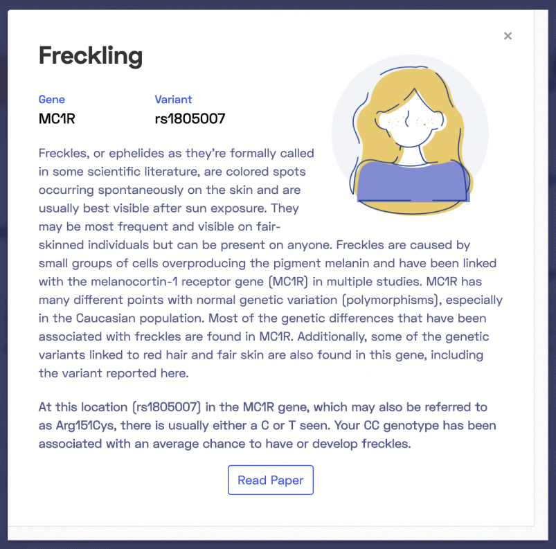 Explanation of findings regarding freckling