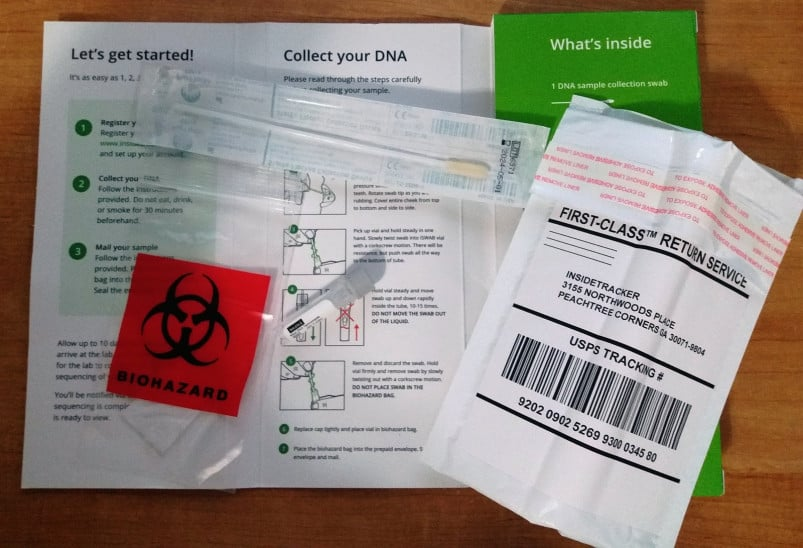 InsideTracker DNA testing kit