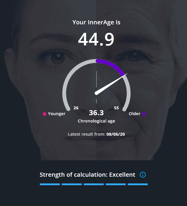 InsideTracker InnerAge 2.0 results