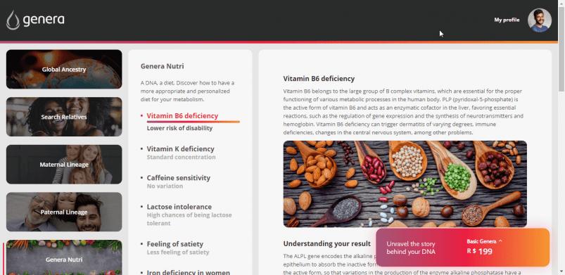 Genera's Nutrition report