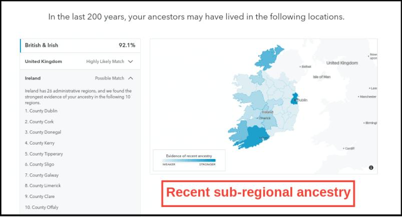 23andMe Sub-Regional Ancestry Map