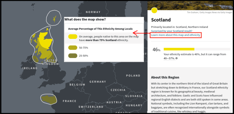 AncestryDNA Ethnicity Estimate Region Info