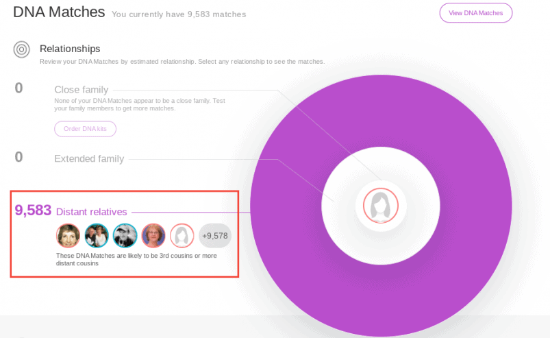 MyHeritage Results DNA Matches