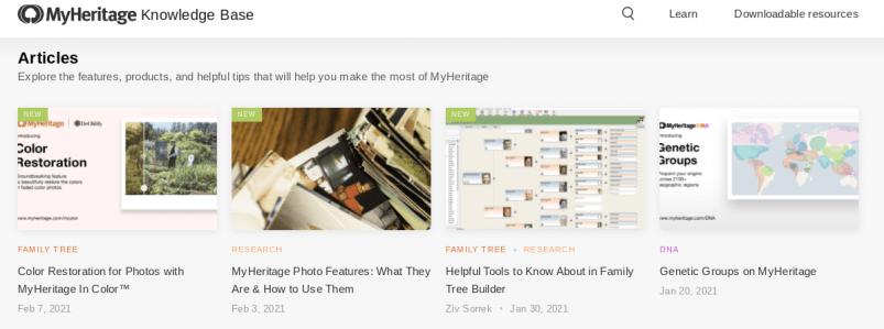 MyHeritage Knowledge Base
