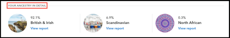 23andMe Ancestry Report Summary