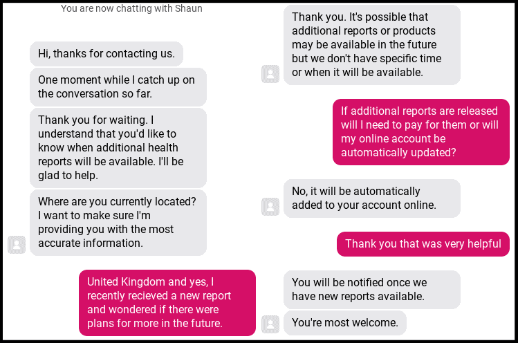 23andMe Live Chat Support