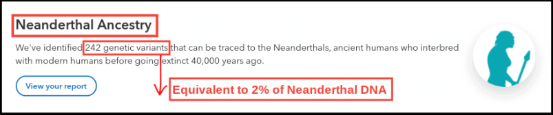 23andMe Neanderthal DNA Summary