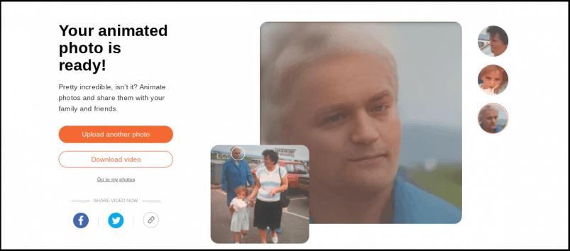 MyHeritage Deep Nostalgia